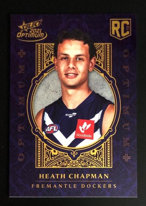 2021 AFL SELECT OPTIMUM PLUS Fremantle Dockers HEATH CHAPMAN Rookie Card OP177