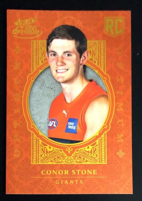 2021 AFL SELECT OPTIMUM PLUS Greater Western Sydney Giants CONOR STONE Rookie Card OP178