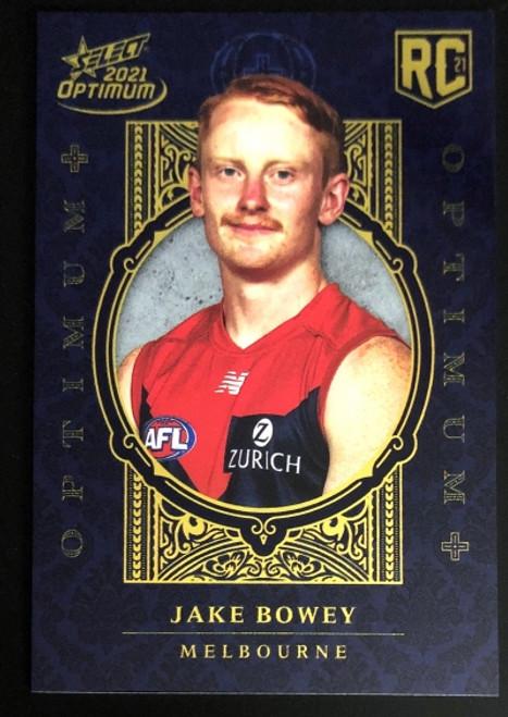 2021 AFL SELECT OPTIMUM PLUS Melbourne Demons JAKE BOWEY Rookie Card OP184