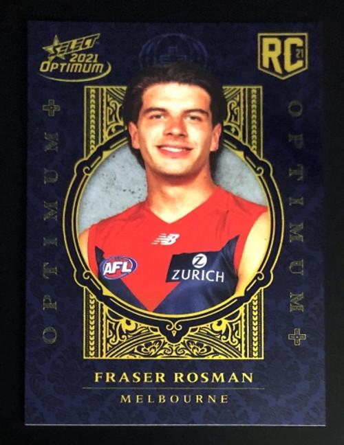 2021 AFL SELECT OPTIMUM PLUS Melbourne Demons FRASER ROSMAN Rookie Card OP197