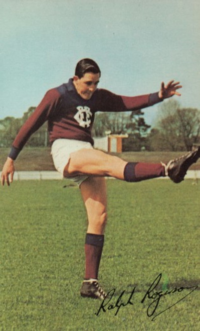 1965 Mobil Football Photos Card RALPH ROGERSON Fitzroy Lions
