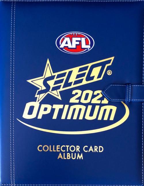 2021 AFL SELECT OPTIMUM ALBUM & 217 CARD BASE SET