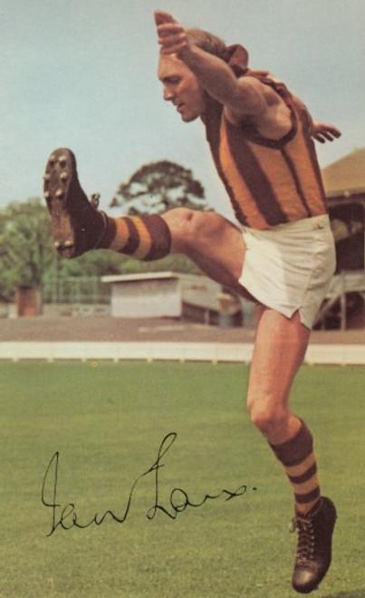 1965 Mobil Football Photos Card IAN LAW Hawthorn Hawks