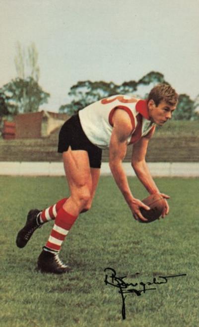 1965 Mobil Football Photos Card BOB KINGSTON South Melbourne Swans