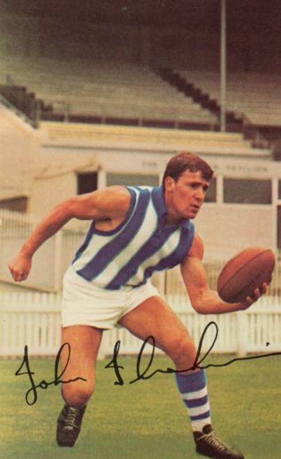 1965 Mobil Football Photos Card JOHN IBRAHIM North Melbour ne Kangaroos