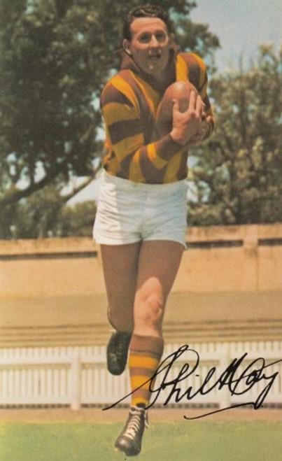 1965 Mobil Football Photos Card PHIL HAY Hawthorn Hawks