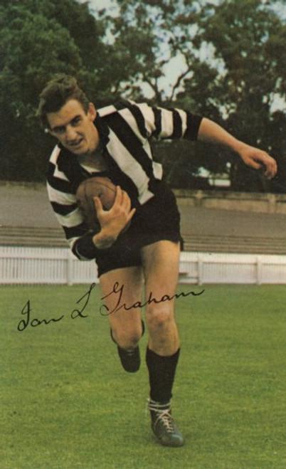 1965 Mobil Football Photos Card IAN GRAHAM Collingwood Magpies