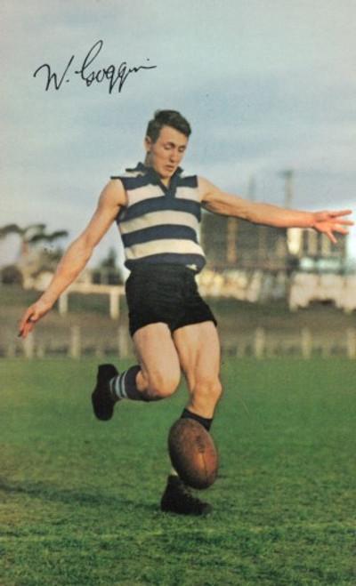 1965 Mobil Football Photos Card BILL GOGGIN Geelong Cats