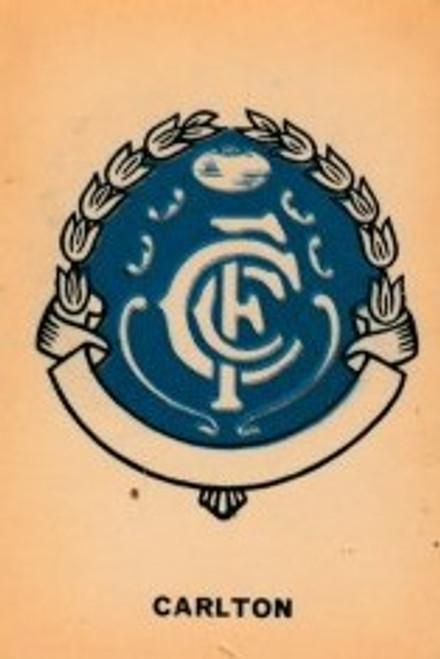 1968 TWISTIES CARLTON BLUES EMBLEM CARD