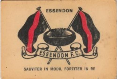 1968 TWISTIES ESSENDON BOMBERS EMBLEM CARD