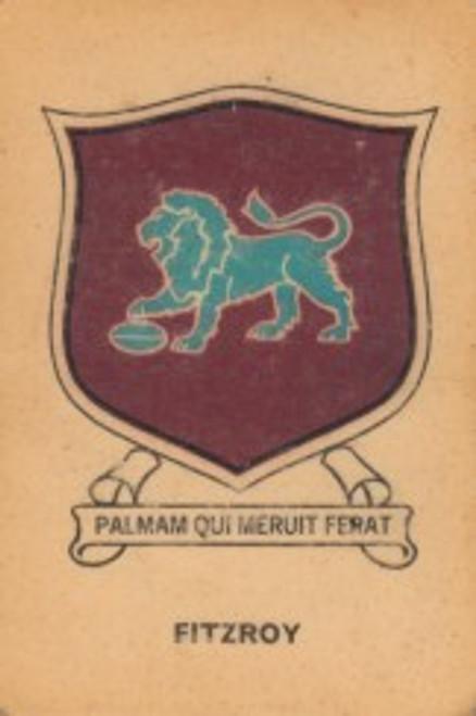1968 TWISTIES FITZROY LIONS EMBLEM CARD