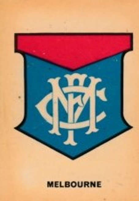 1968 TWISTIES MELBOURNE DEMONS EMBLEM CARD