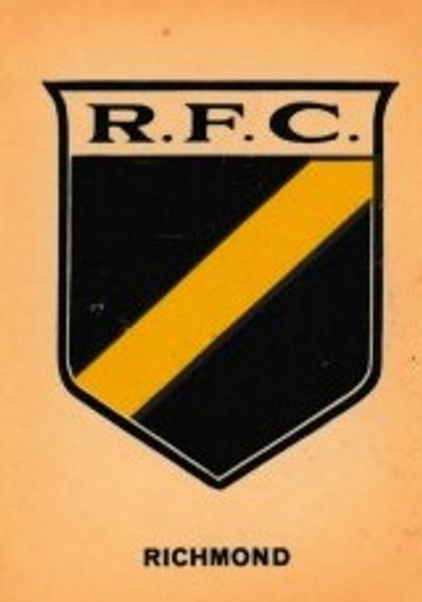 1968 TWISTIES RICHMOND TIGERS EMBLEM CARD