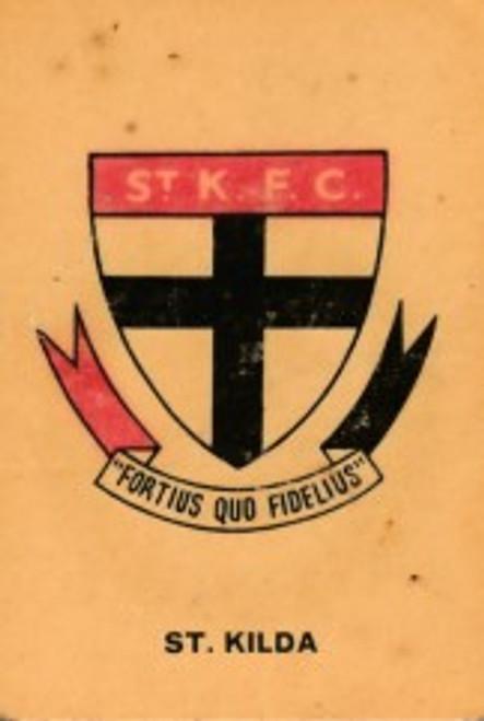 1968 TWISTIES ST KILDA SAINTS EMBLEM CARD
