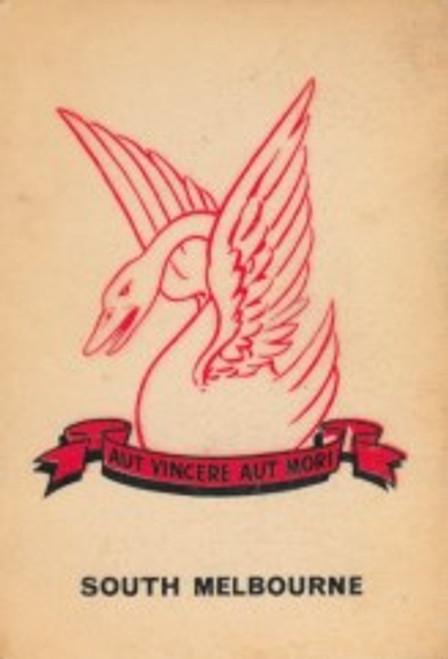 1968 TWISTIES SOUTH MELBOURNE SWANS EMBLEM CARD