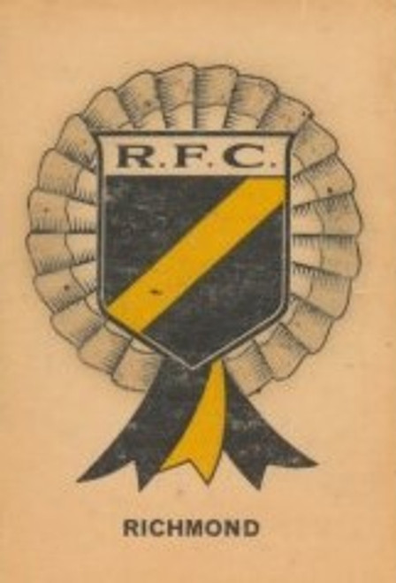 1968 TWISTIES RICHMOND TIGERS ROSETTE CARD