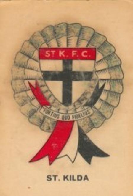 1968 TWISTIES ST KILDA SAINTS ROSETTE ACRD