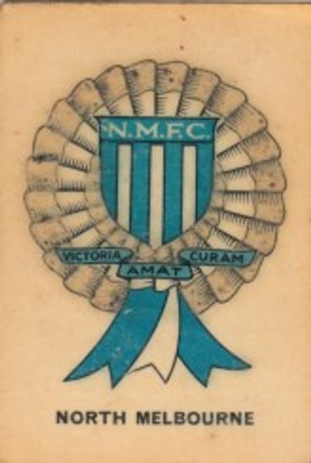 1968 TWISTIES NORTH MELBOURNE KANGAROOS ROSETTE CARD