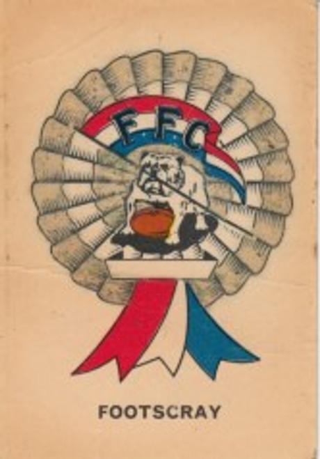 1968 TWISTIES FOOTSCRAY BULLDOGS ROSETTE CARD