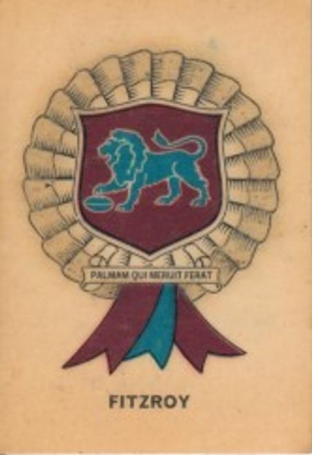 1968 TWISTIES FITZROY LIONS ROSETTE CARD