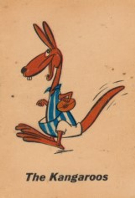 "1968 TWISTIES NORTH MELBOURNE ""THE KANGAROOS"" MASCOT CARD"