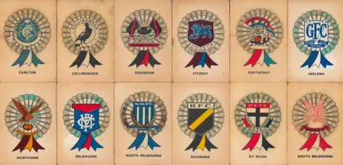 1968 SUN VALLEY TWISTIES ROSETTE 12 TEAM SET