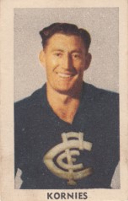 1949 Kornies Victorian Footballers #102 O GRIEVE Carlton Blues