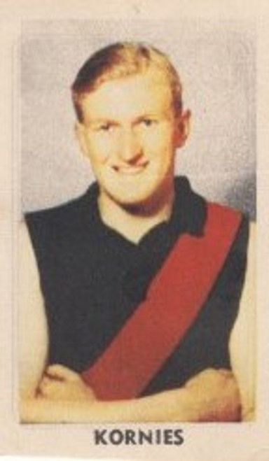1949 Kornies Victorian Footballers #087 W MAY Essendon Bombers card