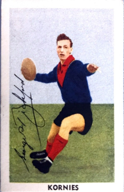 1951 Kornies Footballers In Action Melbourne Demons G BICKFORD Card