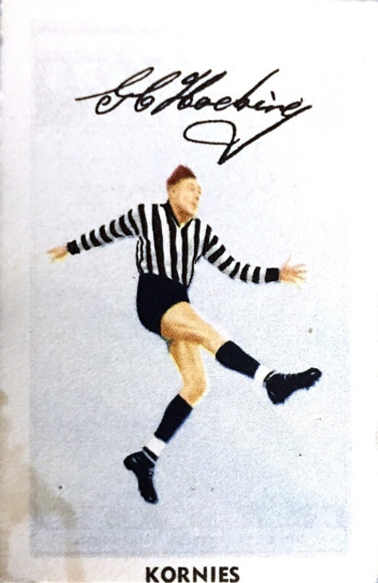 1951 Kornies Footballers in Action Collingwood Magpies G HOCKING Card