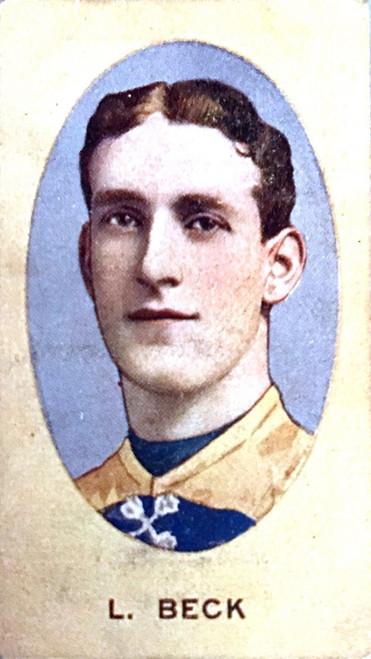 1910 Sniders & Abrahams E Series Carlton Blues L BECK Cigarette Card