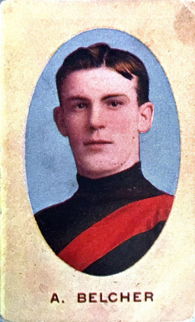 1910 Sniders & Abrahams E Series Essendon Bombers A BELCHER Cigarette Card