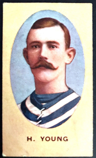 1910 Sniders & Abrahams E series Geelong Cats H YOUNG Cigarette Card