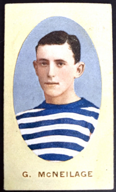 1910 Sniders & Abrahams E Series Geelong Cats G McNEILAGE Cigarette Card