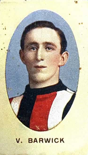 1910 Sniders & Abrahams E Series St Kilda Saints V BARWICK Cigarette Card