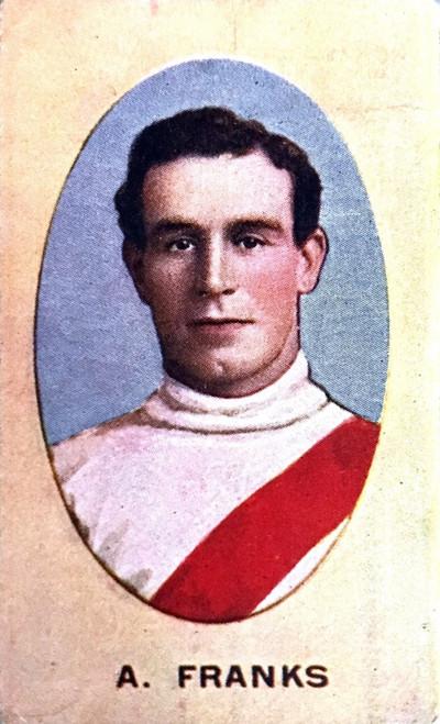 1910 Sniders & Abrahams E Series South Melbourne Swans A FRANKS Cigarette Card