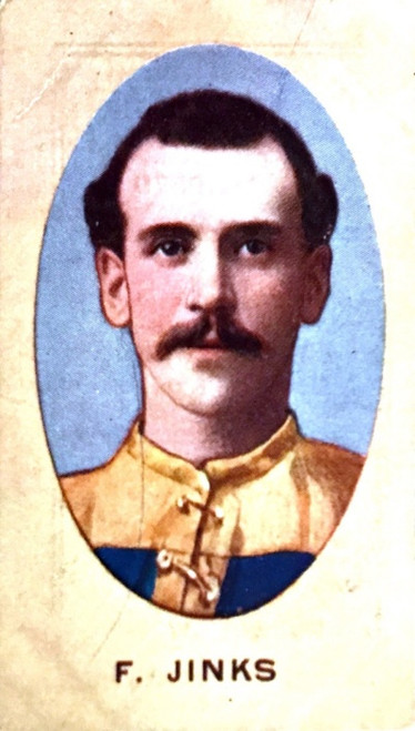 1910 Sniders & Abrahams E Series Carlton Blues F JINKS Cigarette card