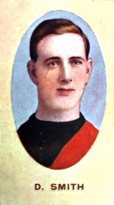 1910 Sniders & Abrahams E Series Essendon Bombers D SMITH Cigarette Card