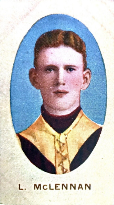 1910 Sniders & Abrahams E Series Fitzroy Lions L McLENNAN Cigarette Card