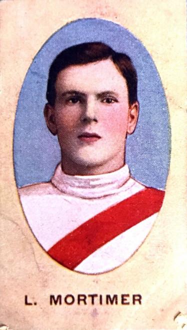 1910 Sniders & Abrahams E Series South Melbourne Swans L MORTIMER Cigarette Card