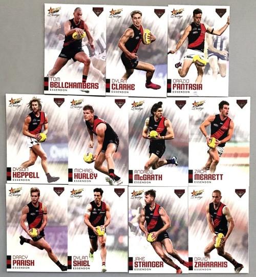 2020 AFL Footy Stars Prestige Essendon Bombers Metal Base Team Set