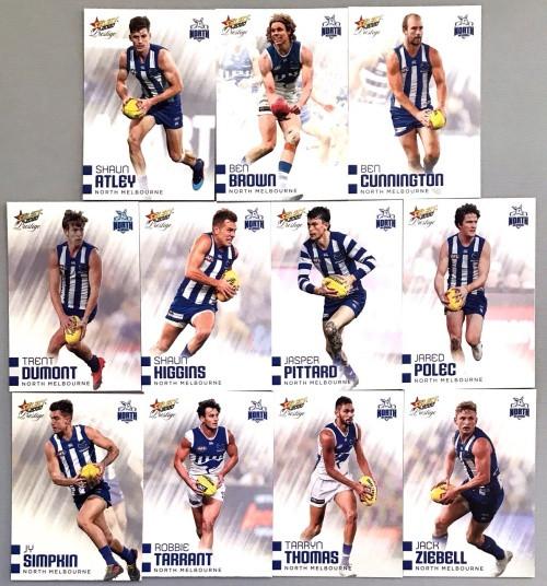 2020 AFL Footy Stars Prestige North Melbourne Kangaroos Metal Base Team Set