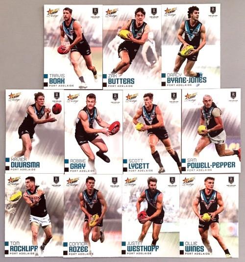 2020 AFL Footy Stars Prestige Port Adelaide Power Metal Base Team Set