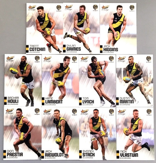 2020 AFL Footy Stars Prestige Richmond Tigers Metal Base Team Set