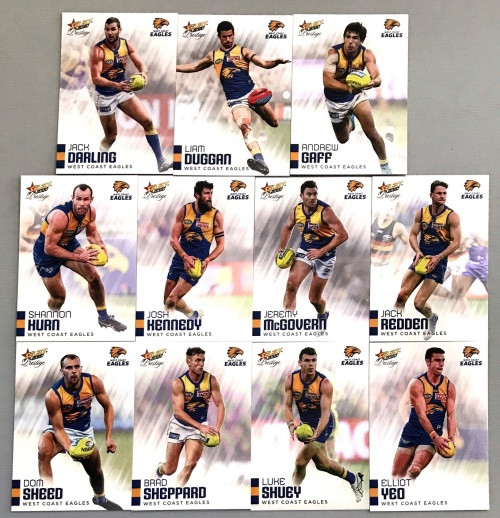 2020 AFL Footy Stars Prestige West Coast Eagles Metal Base Team Set