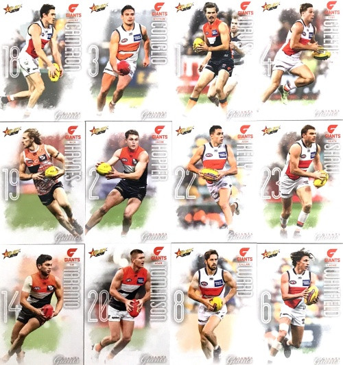 2020 AFL Footy Stars Greater Western Sydney Giants Base Team Set