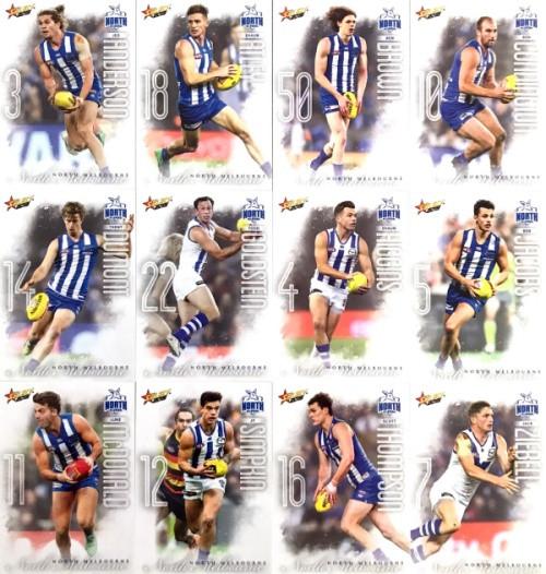 2020 AFL Footy Stars North Melbourne Kangaroos Base Team Set