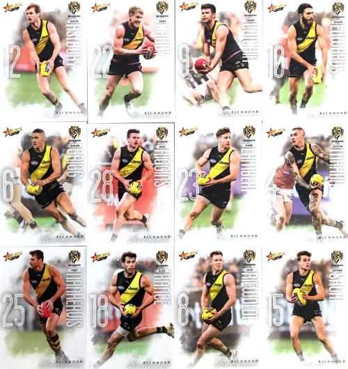 2020 AFL Footy Stars Richmond Tigers Base Team Set