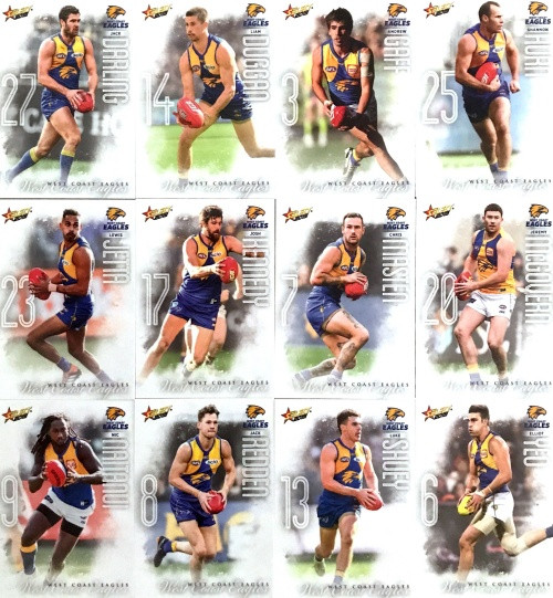 2020 AFL Footy Stars West Coast Eagles Base Team Set