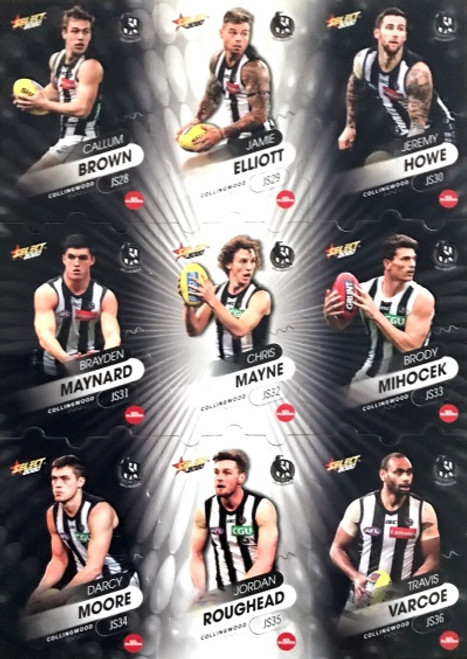 2020 Footy Stars Collingwood Magpies Jigsaw Team Set